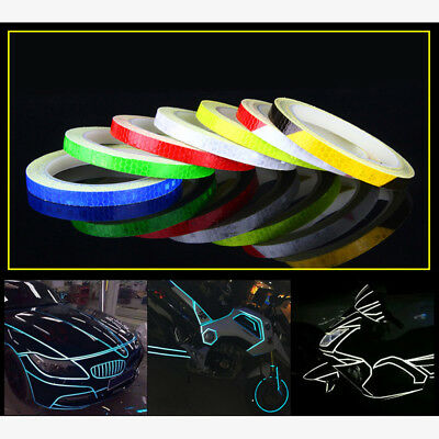 Fluorescent Bike Bicycle Cycling Reflective Stickers Security Wheel Rim Tape