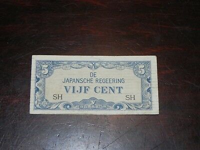 Netherlands Indies 5 Cents Japanese Occupation 1942 P-120 SH Circ JCcug 18793