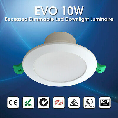 EVO 10W  IP44 Recessed  Dimmable  LED Downlight Luminaire 90mm Ceiling Cutout