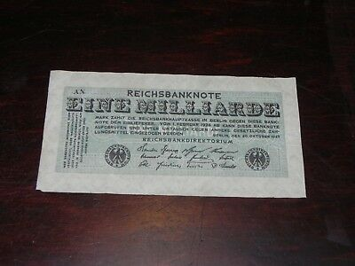 Germany 1 Milliarde Mark Banknote 1923 P-122 Circulated JCcug 18846