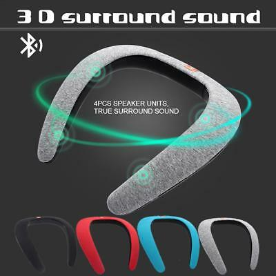 Wireless Bluetooth Speaker Portable Sports Wearable Neck Mp3 Player Subwoofer