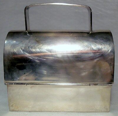 Vintage CARTIER HAND MADE STERLING SILVER EVENING BAG / LUNCH BOX 221.9 grams