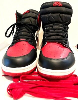 NIKE AIR JORDAN 1 RETRO High Bred Toe Men's Size Us/18 UK/17 Most Popular !