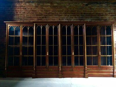 Magnificent Antique Library Bookcase Mahogany 19th Century Oxford University
