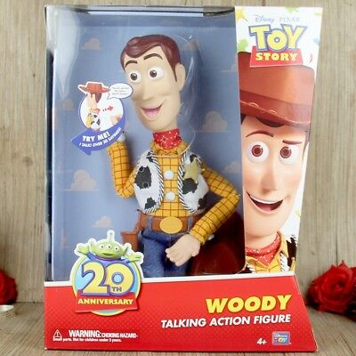 Disney Pixar Toy Story 20th Anniversary Woody Talking Action Figure Doll Kid Toy