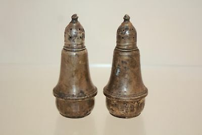 178 g Weighted Sterling Salt Pepper Shakers Scrap