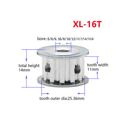 XL16T AF Type Timing Pulley Synchronous Wheel 5-16mm Bore For 10mm Width Belt