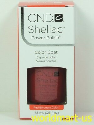 CND Shellac GelColor UV/LED: #40509_Red Baroness 0.25fl.Oz