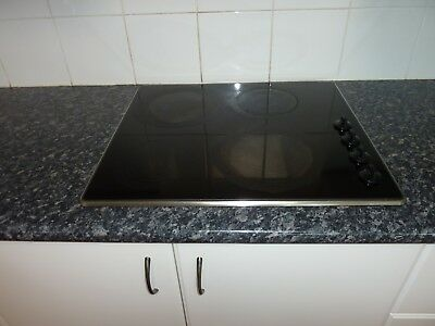 Westinghouse 60cm black glass surface 4 plate electric cooktop
