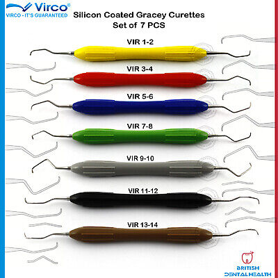 Dental Silicone Coated Grip Gracey Curettes Periodontal Instrument Root Scaler