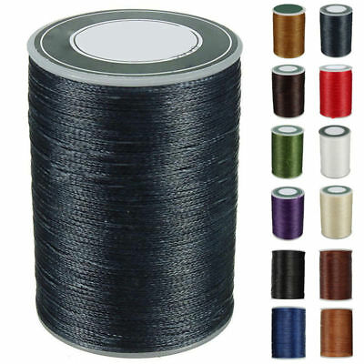 0.8mm 90m Round Wax Thread Cord Leather Sewing Hand Stitching Thread Craft