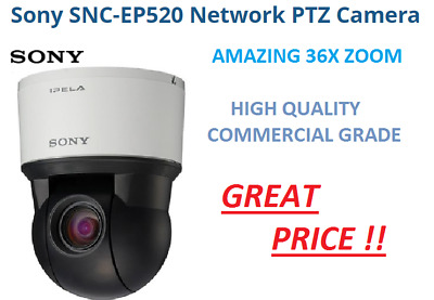 Sony SNC-EP520 Network Security IP Camera 36x Optical PTZ SD Day/Night Color