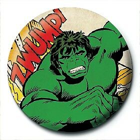 Marvel Comics Retro Hulk Strip Clipping Official 25mm Button Pin Badge