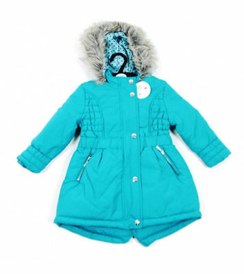 e7fef01d8 BHS GIRLS COAT Parka Jacket Winter Quilted Hooded Rain Warm School ...