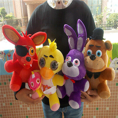 New FNAF Five Nights at Freddy's FREDDY & FOXY & Bonnie &Chica Plush doll Set
