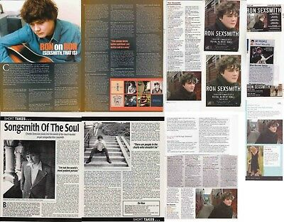 RON SEXSMITH : CUTTINGS COLLECTION -interviews adverts-