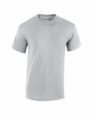 New Plain Blank Gildan G5000 100% Heavy Cotton T-shirt  Ash grey S M L XL XXL