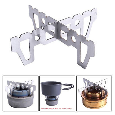 Outdoor Camping Stove Burner Stand Cross Stainless Alcohol Stove Rack Po HES