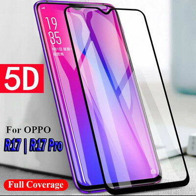 5D Full Coverage Tempered Glass Screen Protector Film For Oppo R17 | R17 Pro