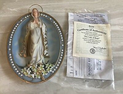 Bradford Exchange Our Lady of Hope 3D Plate Visions of Our Blessed Mother Mary