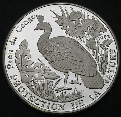 CONGO REPUBLIC 500 Francs 1992 Proof - Silver - Protection of Nature - 1268