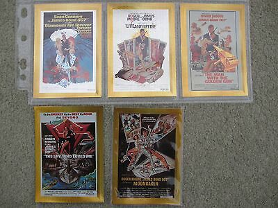 James Bond Connoisseur's Collection  Vol 2 The 70's metalwork poster cards P7-11