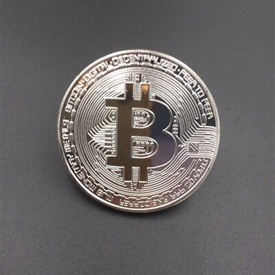 Bitcoin Commemorative Round Collectors Coin Bit Coin is Silver Plated ~