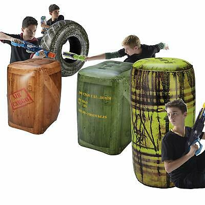 Inflatable Battlefield Nerf Laser Tag Barriers War Zone Toy Indoor Bunkers