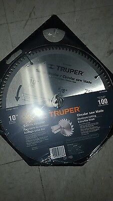 Truper St-10100A Circular Saw Blade Aluminum Cutting Extra Fine Finish 100 Teeth