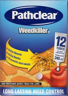 Pathclear Weedkiller 12 Tubes of liquid concentrate treats up to 240m2