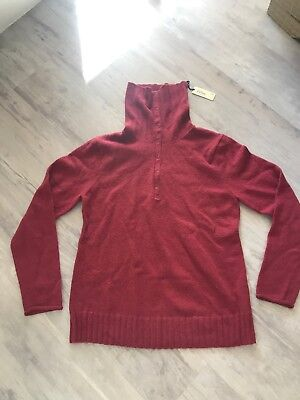 Gap Maternity Indian Red Snap  Neck Sweater Xl