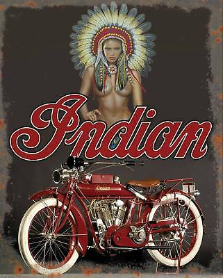 American Indian motorcycle vintage reproduction on 8x10 in aluminum