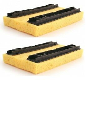 2 x Bentley Deluxe Hinge Floor Mop Refill Sponge Mop Refill In Yellow 20 x 14cm