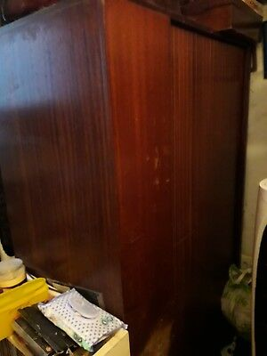 Around 1970 Two Solid Wardrobe & Dressing Table Collection Only Gillingham Kent
