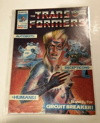 UK G1 TRANSFORMERS # 33 Comic – MARVEL - 1985 - JOB LOT - Collectable