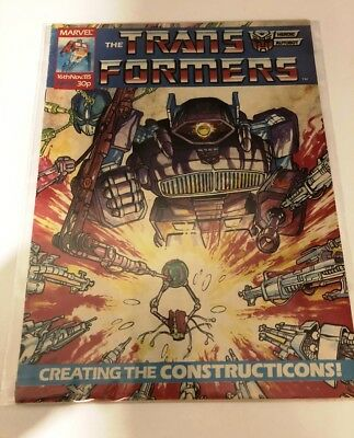 UK G1 TRANSFORMERS # 35 Comic – MARVEL - 1985 - JOB LOT - Collectable