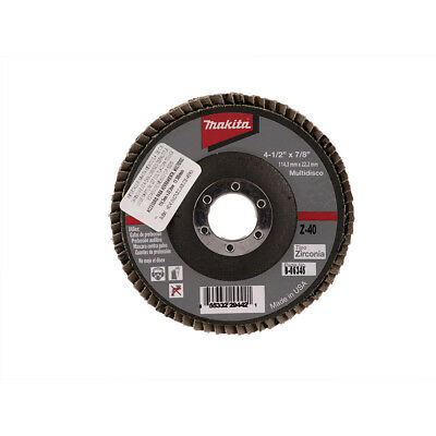 MAKITA B-06345 4-1/2-Inch by 7/8-Inch 40 Grit Zirconia Angle Grinder Flap Disc