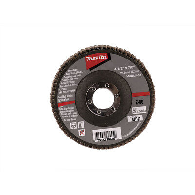 MAKITA B-06367 4-1/2-Inch by 7/8-Inch 80 Grit Zirconia Angle Grinder Flap Disc
