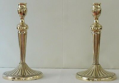 Pair of vintage brass candlesticks in classical style; height 24.5cm