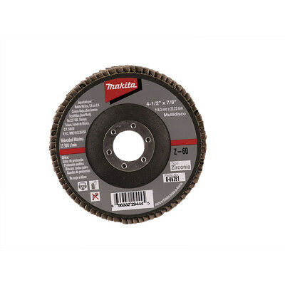 MAKITA B-06351 4-1/2-Inch by 7/8-Inch 60 Grit Zirconia Angle Grinder Flap Disc