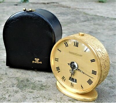 NO RESERVE Jaeger LeCoultre 8 Day Desk Alarm Clock Vintage Antique