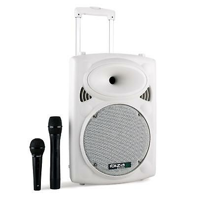 """Portable Pa 10"""" 250W Rms Active Speaker + Microphones Bluetooth Usb"""