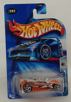 Hot Wheels Track Aces Series 2004-202 Turbo Flame Sizzler Double Spoke Five