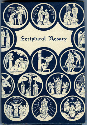 Vintage 1963 Scriptural Rosary Hardcover Book with Dust Jacket