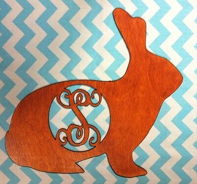 """18"""" Wooden Vine Or Times Roman Font Chocolate (stained) Bunny Choice! Custom"""
