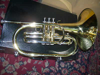 Mellophone , with mouthpiece and hard case