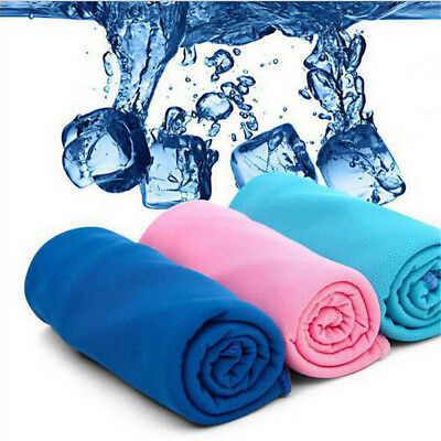 Ice Cold Enduring Running Towel Jogging Gym Chilly Pad Instant Cooling Sports BC