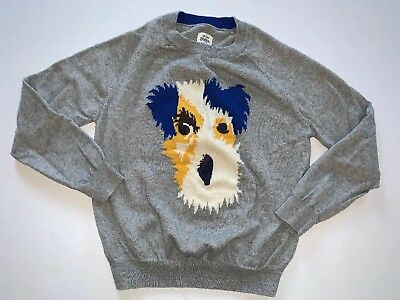 Mini Boden Boys Dog Face Sweater Size 7-8 Years