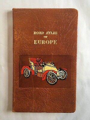 Vintage Vejatlas Road Atlas of Europe Leather