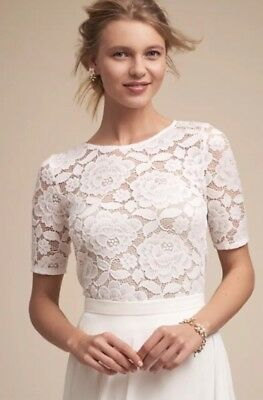 NEW BHLDN White Lace Jive Top Size Small - Wedding Topper